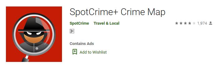 SpotCrime+ Crime Map