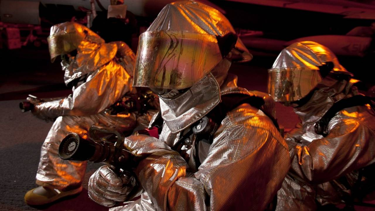 Full protection suits wear to block radiation
