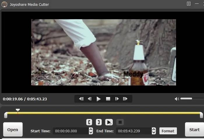 Upload video by Choose the part you want to cut