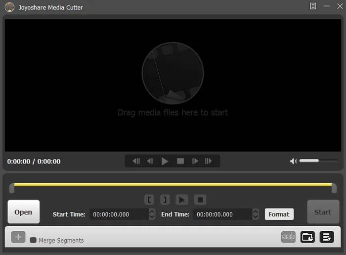 start the software of the Video cutter