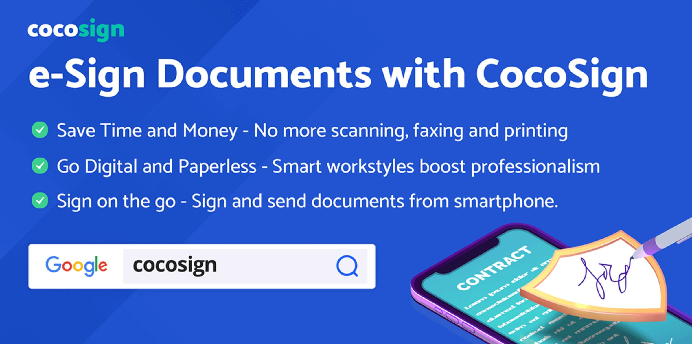 CoCoSign as a Free App to Create Electronic Signatures