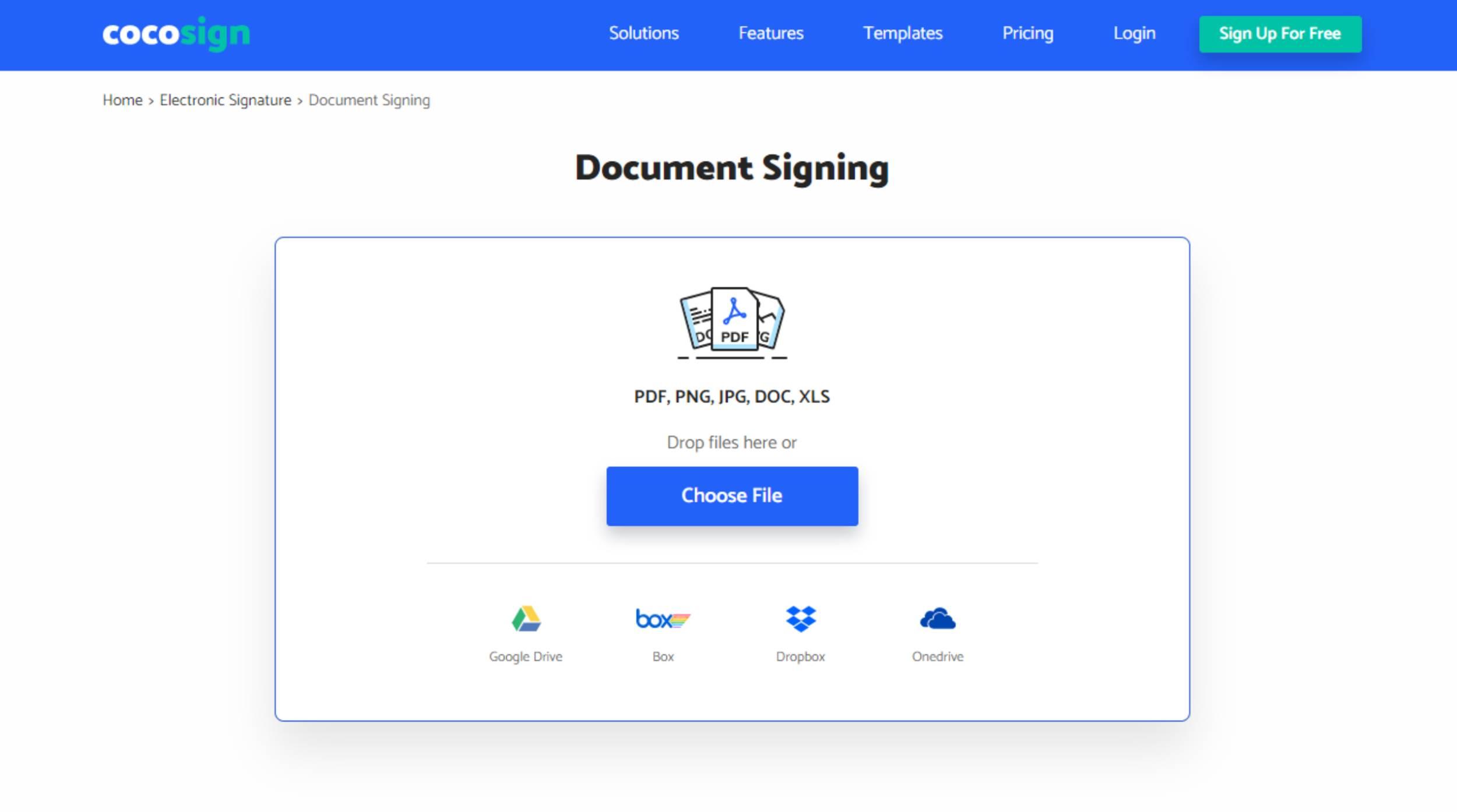 Document Signing CoCoSign app